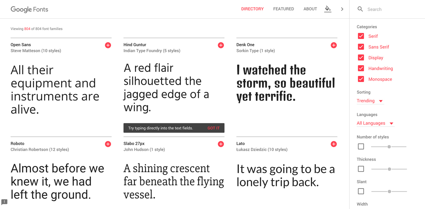 google-fonts-web-design-trends